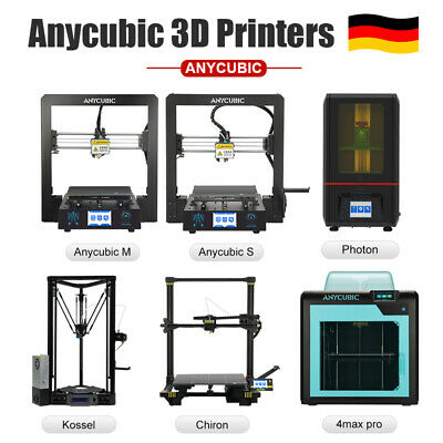 EU Anycubic I3 Mega-S Chiron Kossel 4Max Pro Photon FDM LCD Imprimante 3D Resin