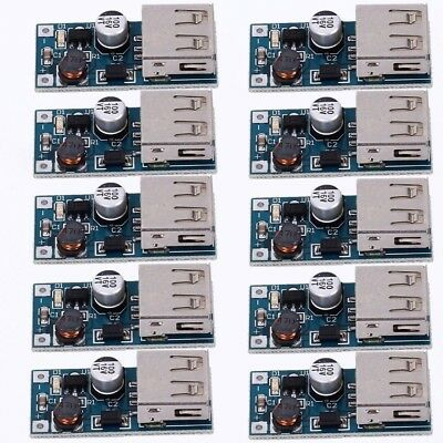 10pcs DC-DC Step Up Power Supply Module 0.9-5V to 5V Converter 600mA USB Charger