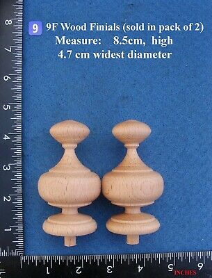 *Pair of Clock / furniture Finials Style 9F