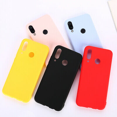 For Xiaomi Redmi 7 Note 7 6 5 Shockproof Gel Silicone Case Matte TPU Back Cover
