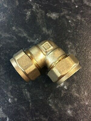15mm Brass Compression Elbow and Spare Olives