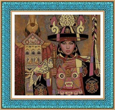 KIT DE PUNTO DE CRUZ PANDA, CROSS STITCH KIT Modernos y Surrealistas 249