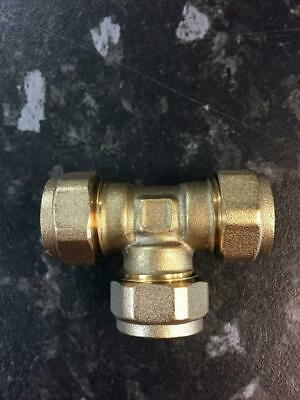 15mm Brass Compression Tee and Spare Olives T