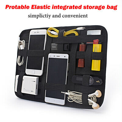 Electronics Accessories Organizer Travel Storage Hand Bag USB Drive Case AU