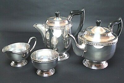 Vintage Four-Piece Viners of Sheffield Silver Plated Tea & Coffee Set