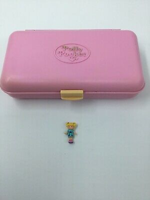 1990 Vintage Polly Pocket Pretty Hair Playset Compact Only +1 Doll Bluebird