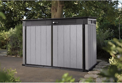 Keter Ultra Large Wood Effect Outdoor Garden Patio Storage Shed Unit Container