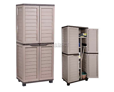 Garden Outdoor Large Shed Patio Unit Storage Box Container Chest Utility Cabinet