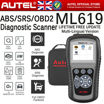 ABS Airbag SRS Reset Tool OBD2 Car Fault Code Reader Diagnostic Scanner LiveData