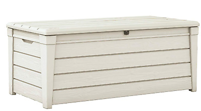 Keter Wood Effect Outdoor Garden Patio Storage Unit Box Container - White Trunk