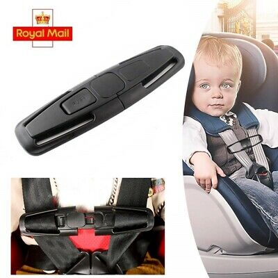 Car Safety Seat Strap Belt Lock Harness Clip Safe Buckle for Baby Black