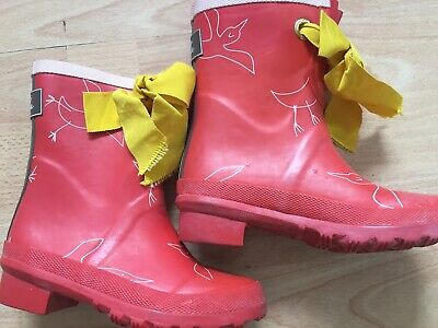 Joules girls bow  wellies size 10 NEW