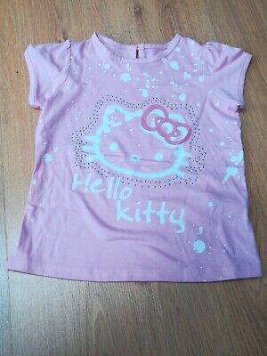 BNWT MARKS AND SPENCER GIRLS AGE 4-5 SHORT SLEEVE T SHIRT TOP  Hello Kitty.