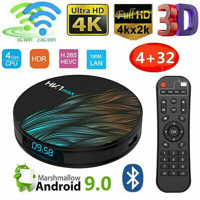 Smart Tv Box Android 9.0 Iptv 4K Full Hd 1080 4Gb 64Gb Rom Decoder Wifi Hk1 Max