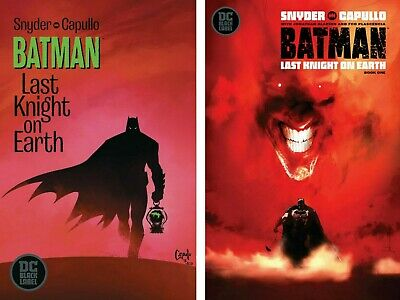 BATMAN LAST KNIGHT ON EARTH #1 Capullo Main + Jock Variant Set DC 2019 1ST PRINT