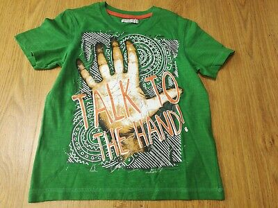 BNWOT MARKS AND SPENCER BOYS AGE 5-6 T Shirt. Talk to the hand 🖐️