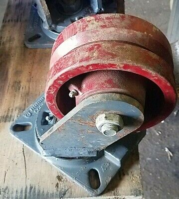 (1) Hamilton 500220 Heavy Service Steel Wheel Swivel Caster NOS