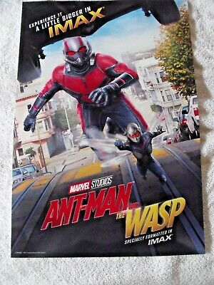 """Antman and The Wasp  Original IMAX Movie Poster 13"""" x 19"""" Marvel Avengers"""