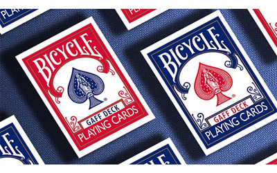 Bicycle Playing Cards FULL GAFF Deck Red or Blue Rare Limited Magic Professional