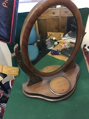 Antique Oval Georgian Dressing Table Mirror - Mahogany  Circa 1800's
