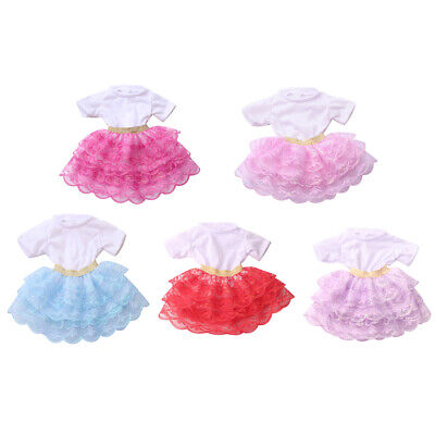 Handmade Party Patchwork Bubble Skirt for 18inch Girl Doll 43cm Baby Doll