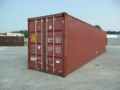 Used 40' Ft HIGH CUBE Shipping and Storage Container for Sale