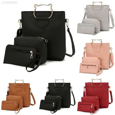 0B4A 3pcs/Set Shoulder Bag Tote Bag Women Elegant Handbag