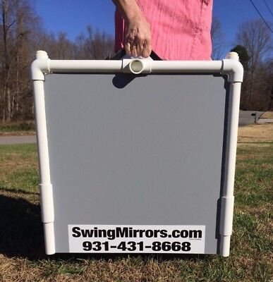 Golf Practice Mirrors 2'x4' Folds for Easy Transport --Writeable surface