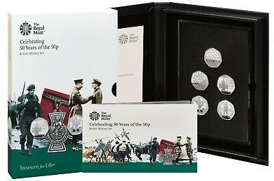 2019 Celebrating 50 Years British Military 50p Fifty Pence Proof 5 Coin Set BNIB