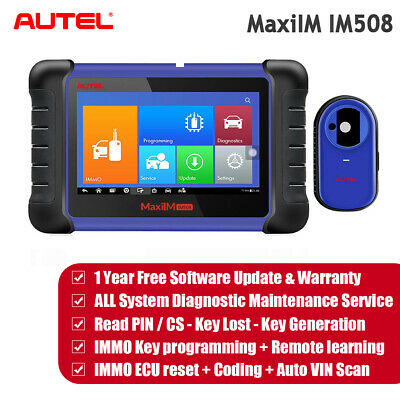 AUTEL IM508 FULL System Car Daignostic Tool All Key Lost Immobilizer  Programming