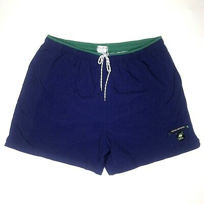Vintage 90s Brooks Brothers Blue Swim Trunks Shorts With Liner Mens Size XL
