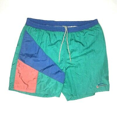 Givenchy Activewear Mens Size Large Swim Shorts Trunks Vtg 90s Color Block