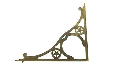 Antique Large Texas Star Metal Cast Iron Corner Sreen Front Porch Ornate Bracket