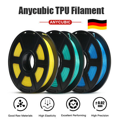 EU Ship ANYCUBIC 1.75mm TPU Filament 0.5KG for 3D Printer Mega S Chiron 4Max Pro