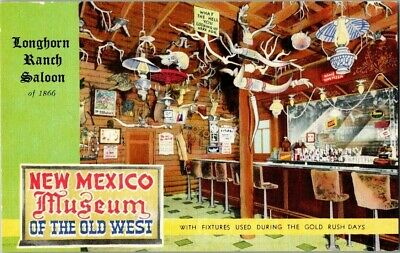 1940'S. Longhorn Ranch Saloon. Albuquerque, Nm, Route 66 Postcard Ck3