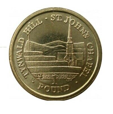 Isle of Man Pound Coin - 2015 St Johns Chapel round £1