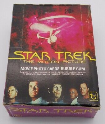 1979 Topps Star Trek The Motion Picture Complete 48Ct Wax Pack Box