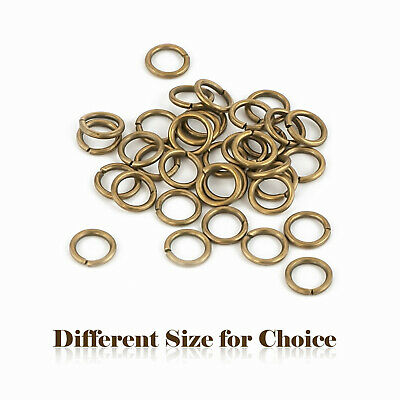 Bronze Different Size for Choice Antique Vintage Style Metal Jump Rings