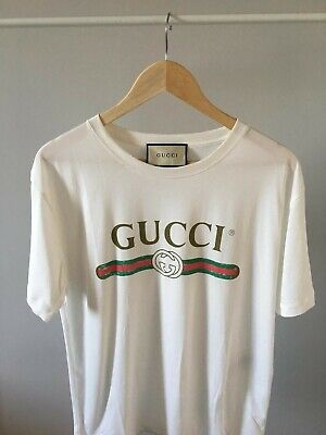 bdcc8d66 GUCCI OVERSIZED WASHED T-shirt with Gucci Belt logo Size Large *Worn ...