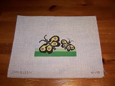Hand Painted Needlepoint Canvas Two Monarch Butterflies Butterfly pretty