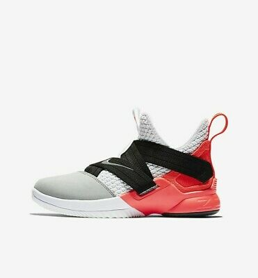 1ac5340850dee NIKE LEBRON SOLDIER XII SFG (GS) AO2910-102 White Crimson Youth Basketball  Shoes
