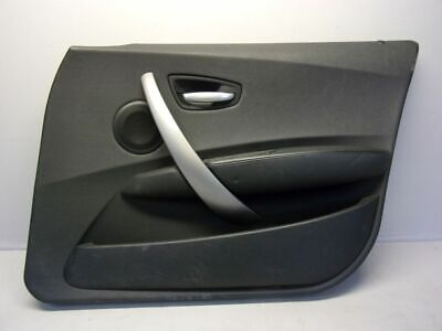 BMW 1 (E87) 118D 04-07 Door Trim Cardboard Right Front 7133298 Black Leather