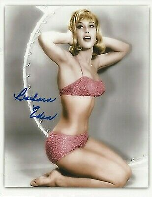 Photo signed by BARBARA EDEN, with COA, 8x10, Jeannie
