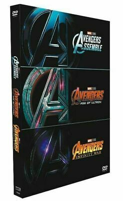 AVENGERS 1-3 DVD Film Collection Assemble, Age of Ultron, Infinity War *New*