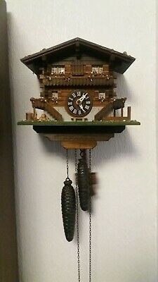 Loetscher Swiss Chalet Cuckoo Clock Mechanical Clock Full Working Order