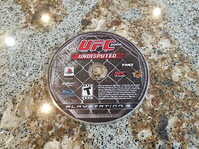 UFC Undisputed 2009 -- Sony PS3 -- B+ CONDITION -- DISC ONLY