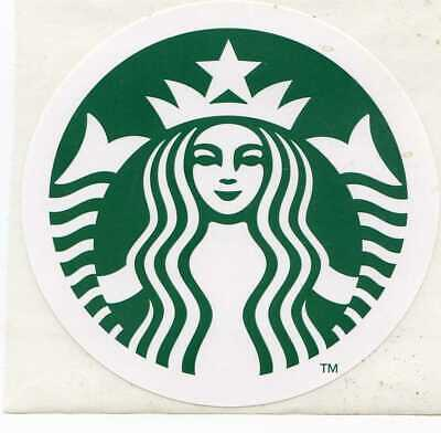Authentic Starbucks Large New Logo Sticker 3""