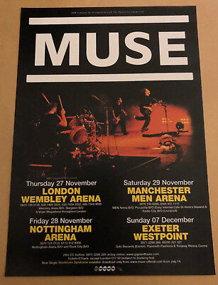 MUSE Gig Flyer UK Tour 2003 - Rare Music Memorabilia - A must for any fan!