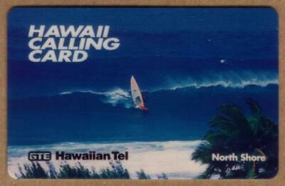 30m Hawaii Calling Card - Windsurfing On North Shore Especimen Teléfono Tarjeta