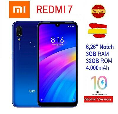 "32GB Xiaomi Redmi 7 6,26"" Notch Version Global Español Android 9 8core"